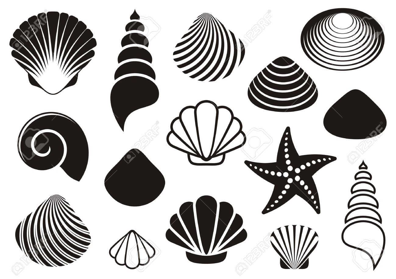 29,833 Starfish Stock Vector Illustration And Royalty Free ... for Starfish Clipart Black And White  111ane