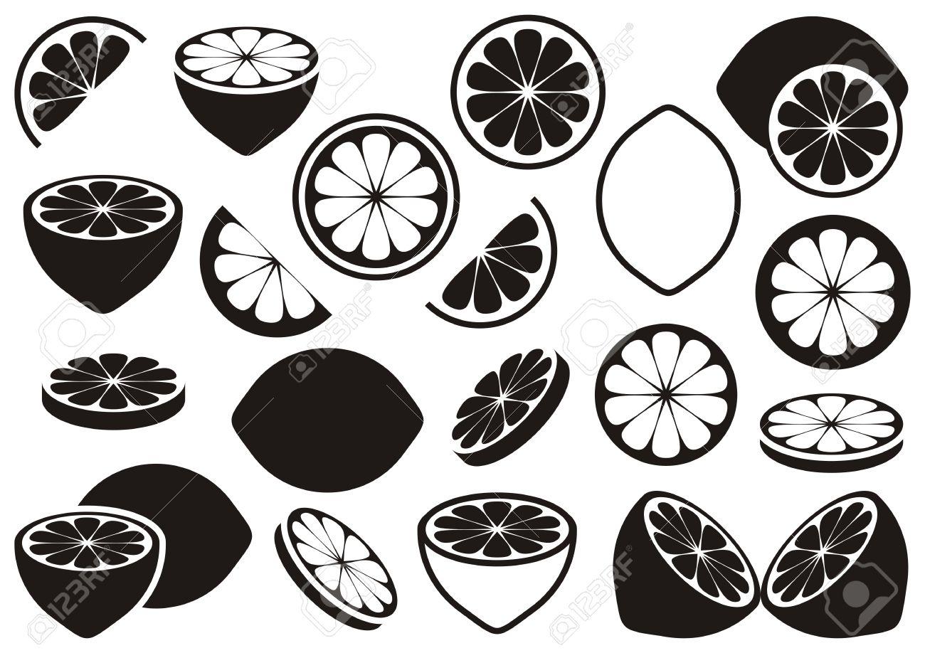 33   Beauty Lemon Clip Art Black And for Clipart Lemon Black And White  53kxo
