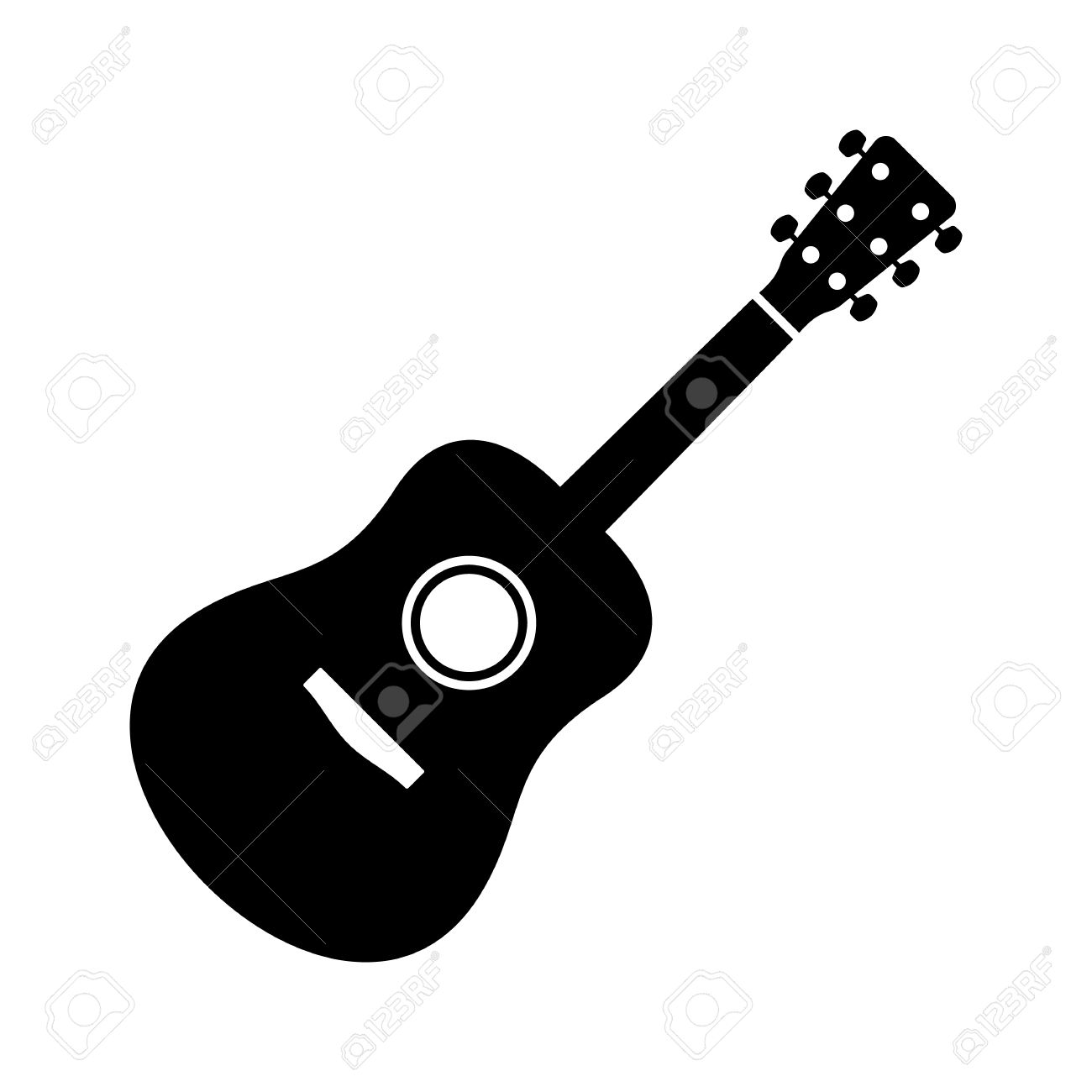 black vector guitar icon isolated on white background royalty free rh 123rf com vector guitar silhouette vector guitar png
