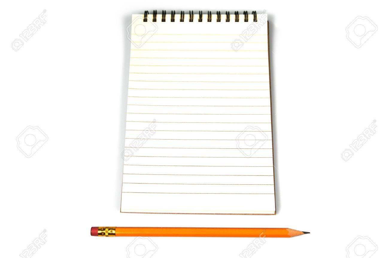 Open Spiral Notebook A spiral bound notebook open