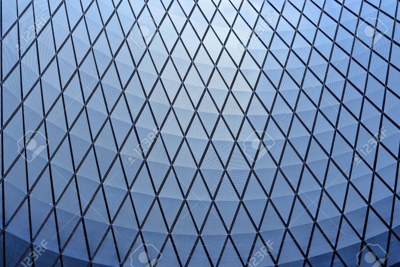 Architektur Blau Glas Decke Innen Zeitgenössisch Geschäft Flur ...
