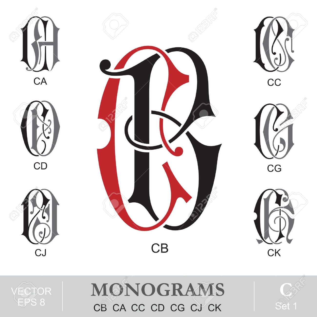 41,456 Monogram Cliparts, Stock Vector And Royalty Free Monogram ...