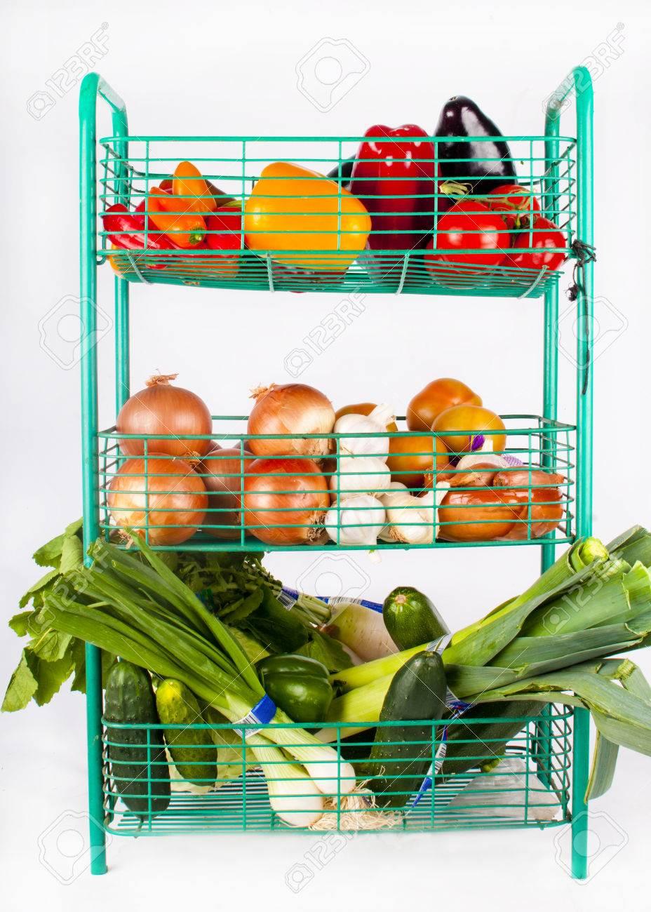 produce vegetable shelves display and bin detail tier fruit rack product