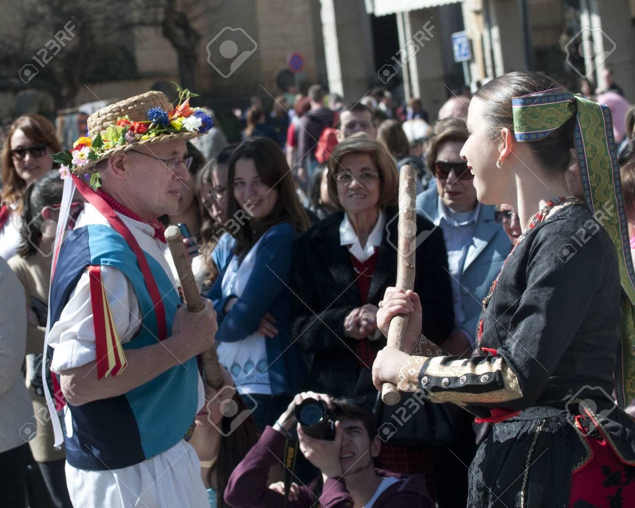 Traditional English And Spanish Folk Dancing SEGOVIA SPAIN