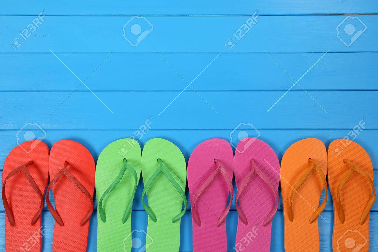 Flip Flops sandals in summer on vacation, holidays with copyspace - 40790571