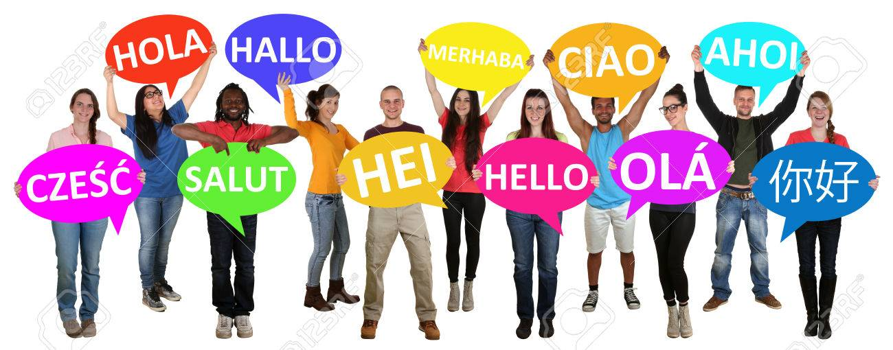 Group Of Young Multi Ethnic People Holding Speech Bubbles With