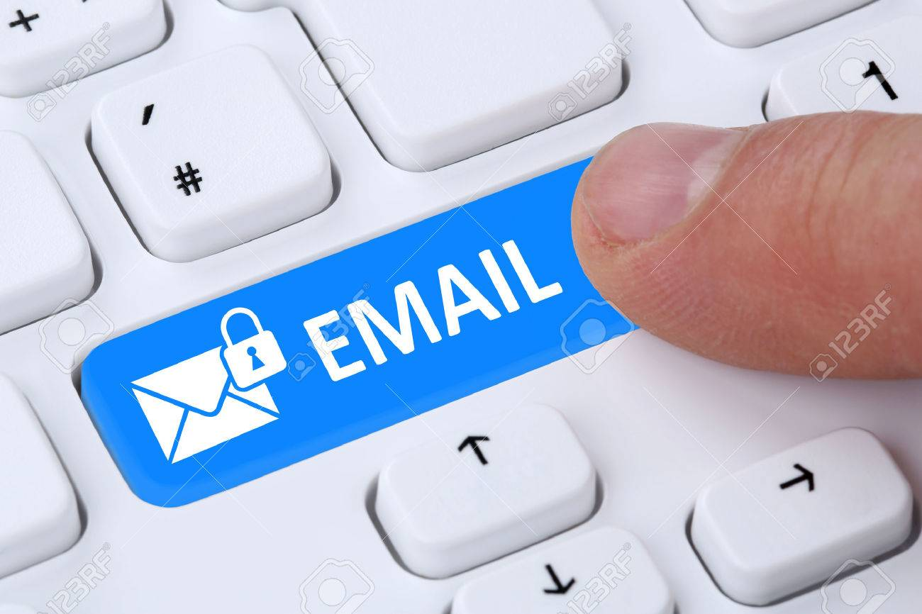 Sending encrypted e mail email protection secure mail via internet sending encrypted e mail email protection secure mail via internet on computer with letter symbol publicscrutiny Images