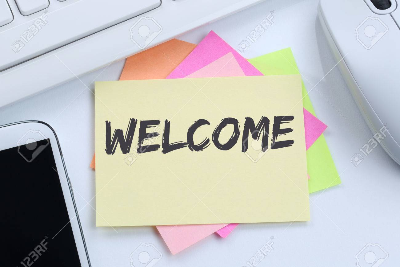 Welcome new employee colleague refugees refugee immigrants desk stock photo welcome new employee colleague refugees refugee immigrants desk computer keyboard thecheapjerseys Choice Image