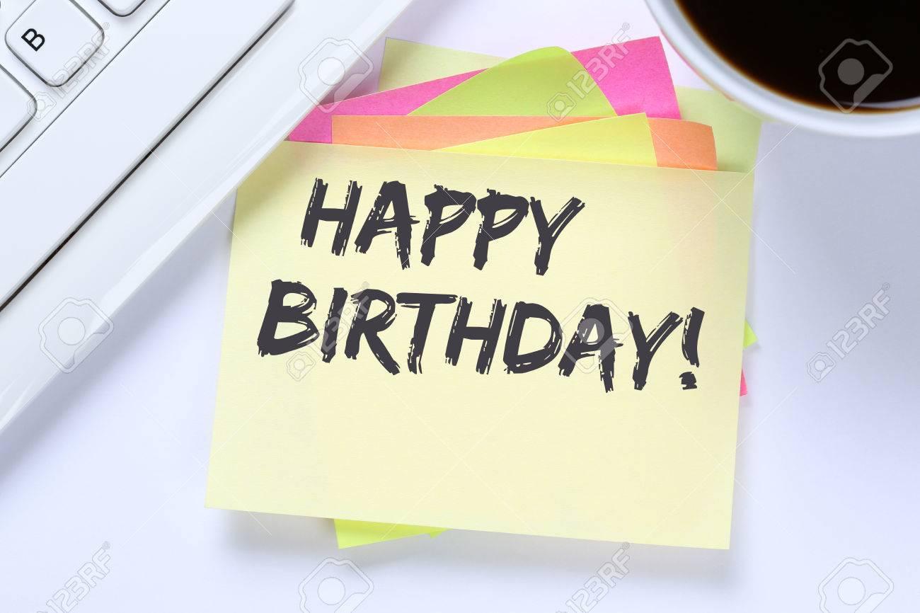 Happy Birthday Greetings Celebration Business Desk Computer – Business Birthday Greetings