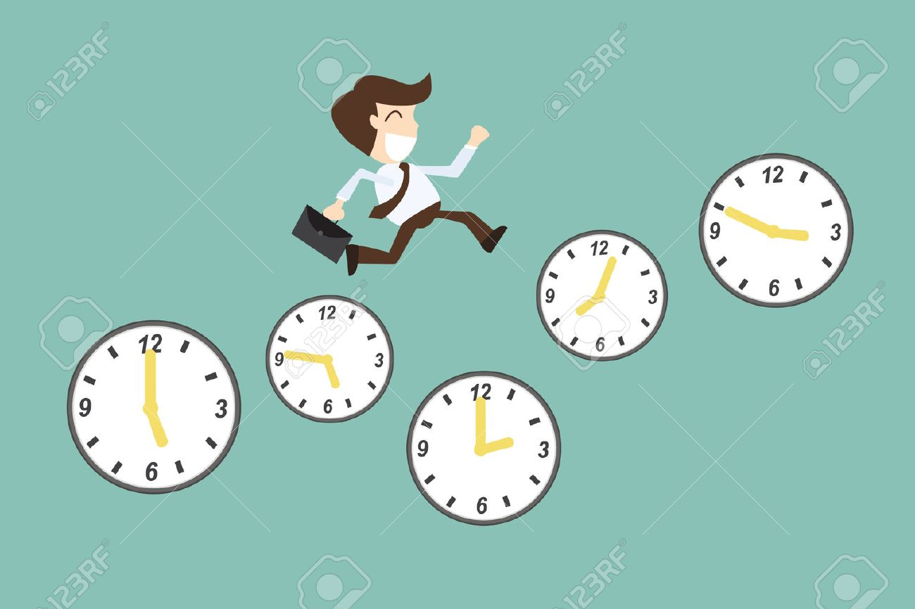 Time Management Concept With Cartoon Businessman Running On Royalty Free Cliparts Vectors And Stock Illustration Image 28295589