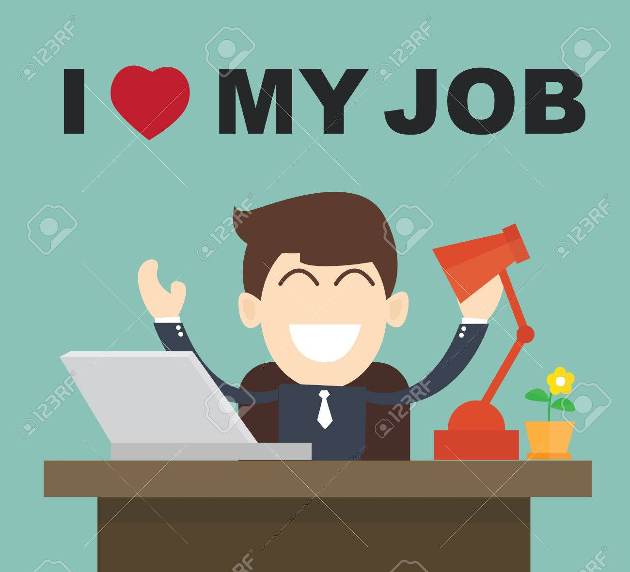 i love my job businessman happy best job royalty cliparts i love my job businessman happy best job stock vector 35133698