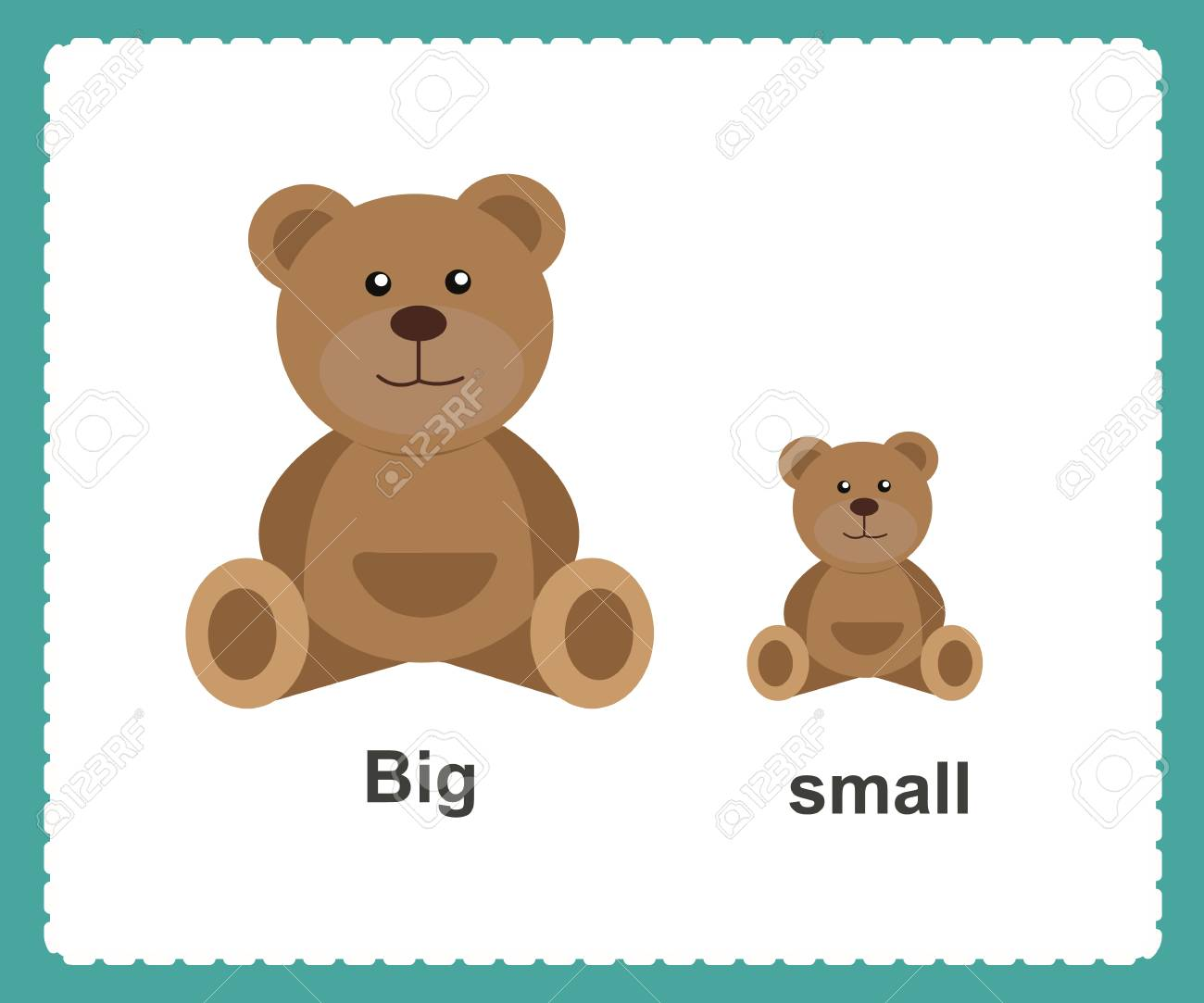 1bdb4fe0d4f3 Opposite English Words big and small vector illustration