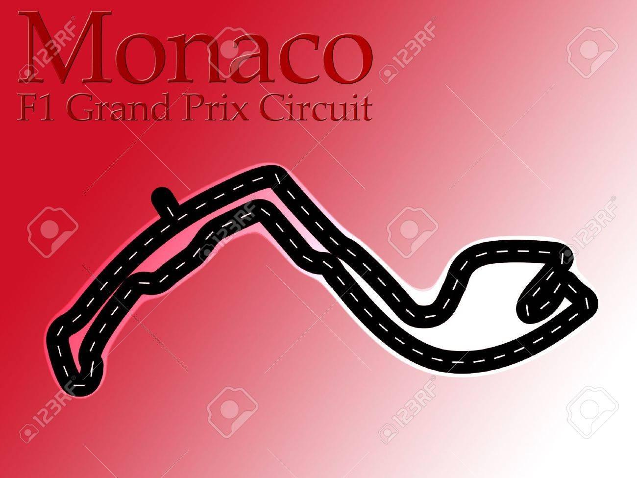Circuito Monaco : Monaco f formula racing circuit map stock photo picture and