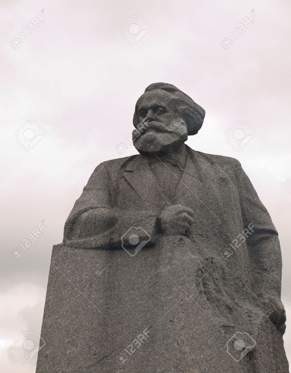 Statue of Karl Marx in Revolution Square Moscow Russia Stock Photo - 13704345