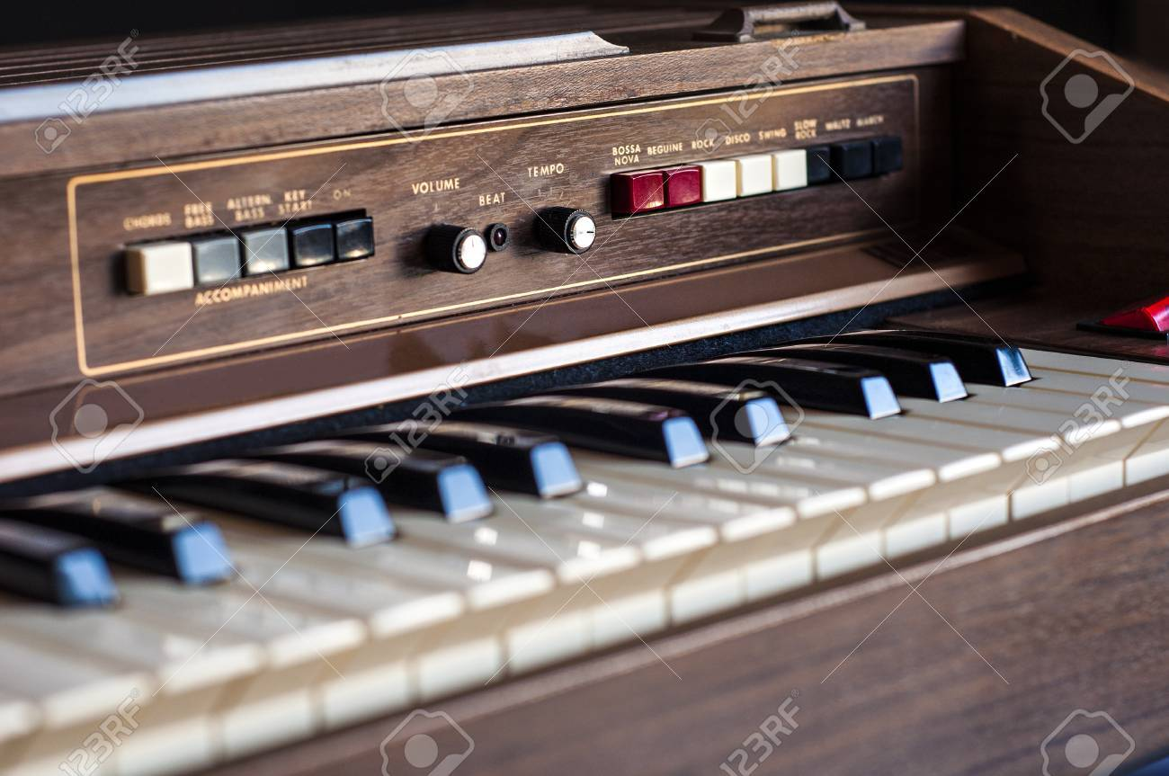 Stock Photo - Vintage electronic organ from 70s