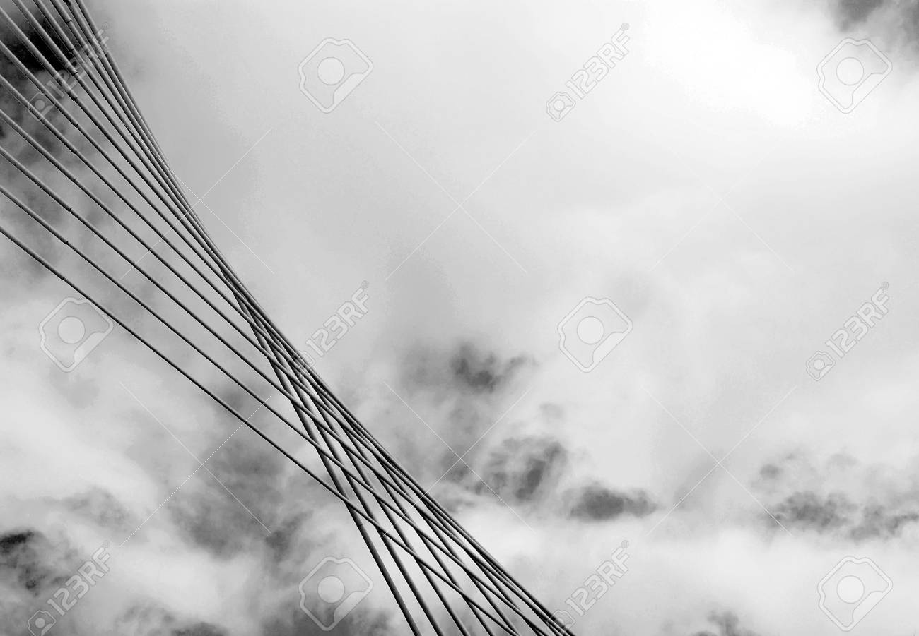 Modern Architecture Detail detail of modern architecture bridge.black and white. stock photo