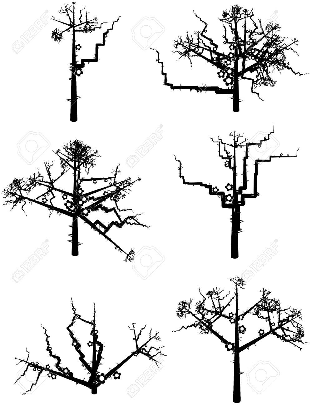 Some winter tree s Stock Vector - 15477617
