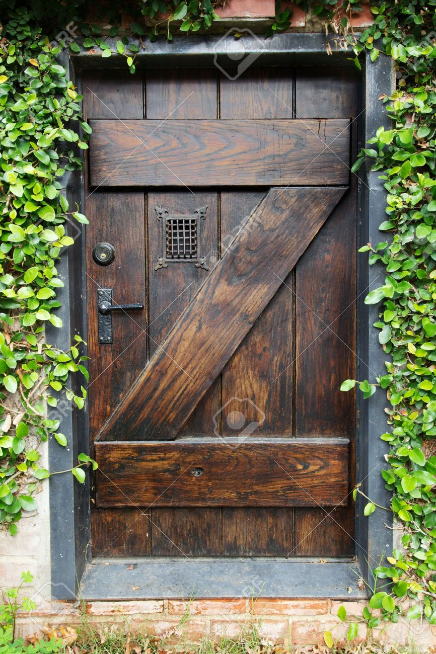 spanish style stained garden secret photo doors door window dark grated with stock wood small to