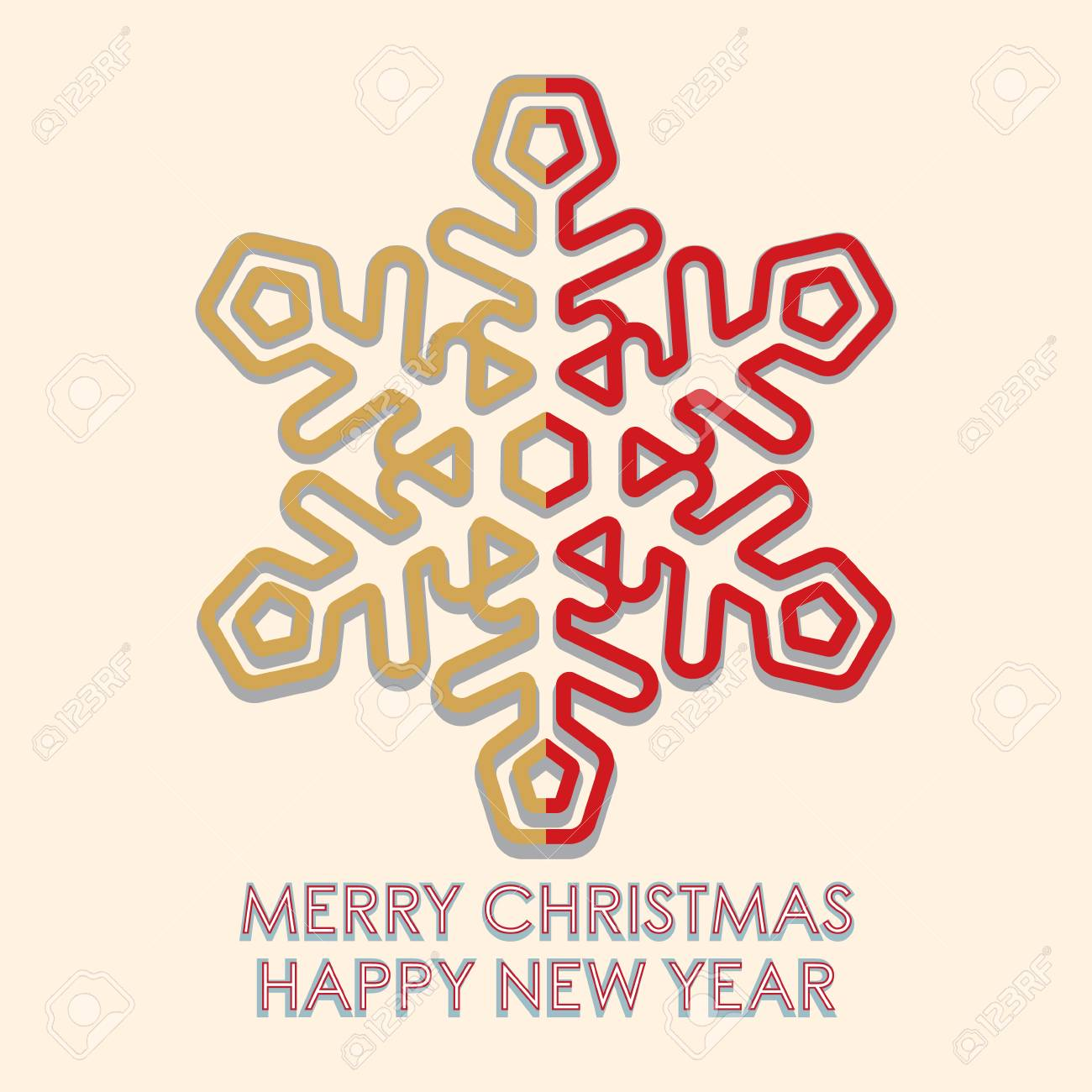 merry christmas and happy new year greeting card template for brochure poster banner