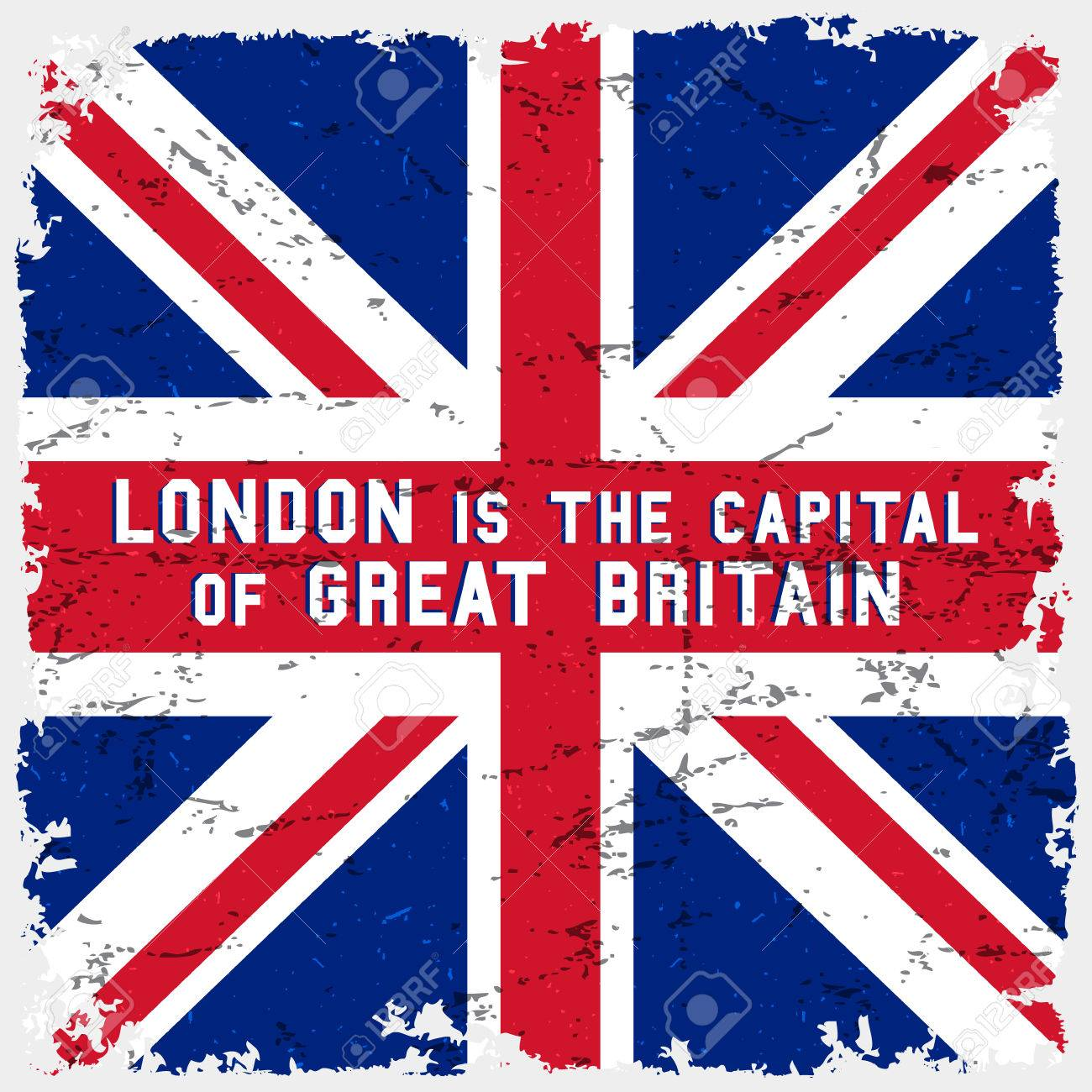 England Flag Vintage Poster T Shirt Print Design London Is The Capital Of