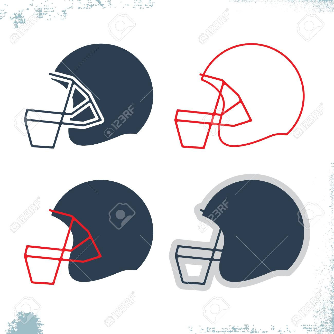 american football helmet icon template set design sport element