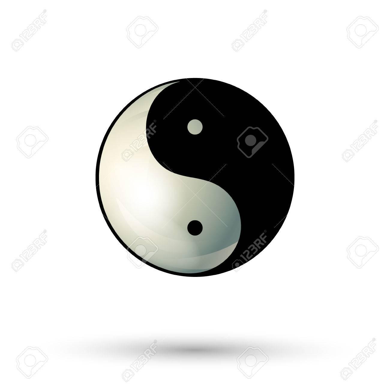Yinyang Symbol Isolated On White Background Yinyang Icon Ying