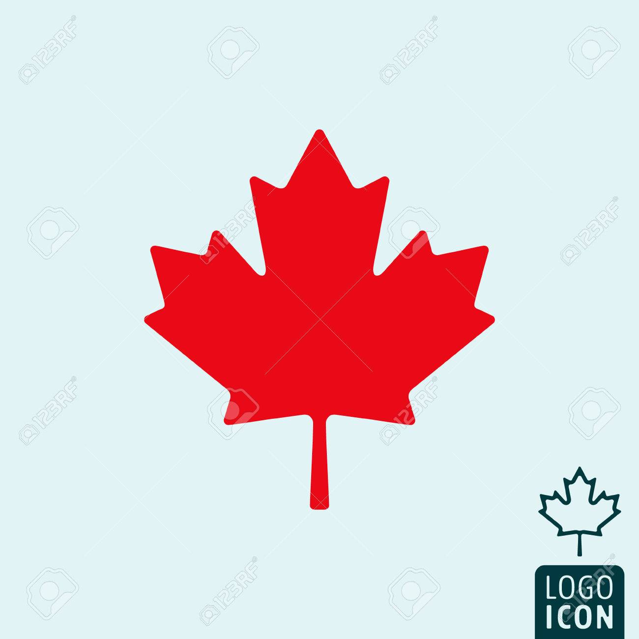Canada Icon Canada Logo Canada Symbol Maple Leaf Icon Isolated