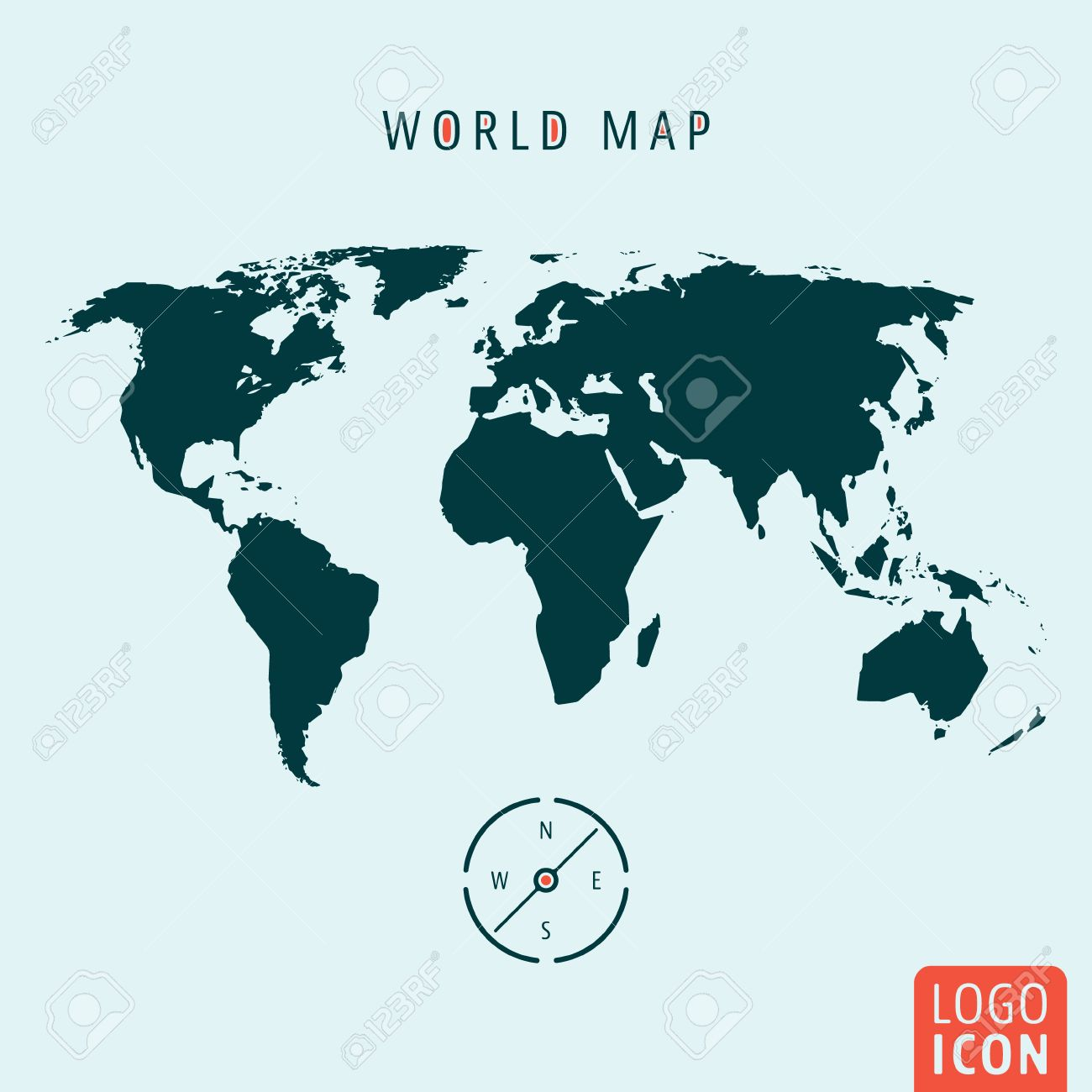 World map icon world map logo world map symbol world map with vector world map icon world map logo world map symbol world map with compass isolated minimal design vector illustration gumiabroncs Image collections