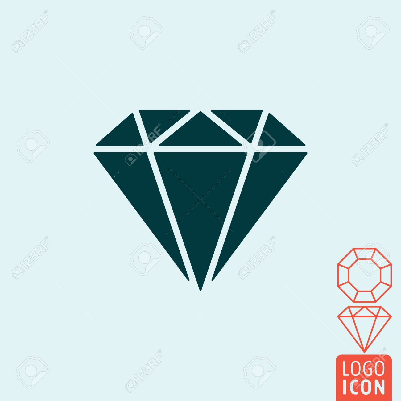 depositphotos diamond stock by illustration logo stylized icon vector linaflerova