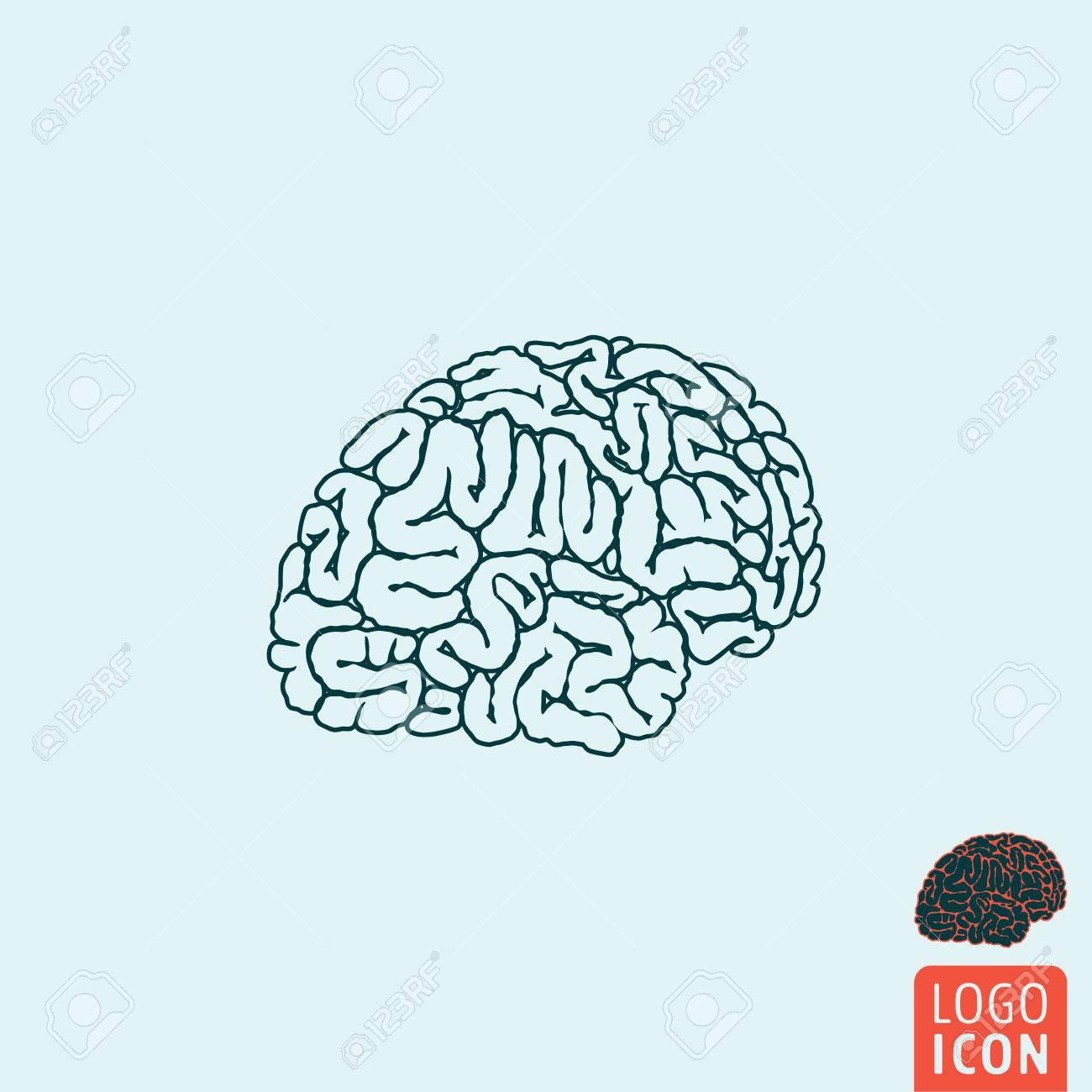 Brain icon brain symbol human brain icon isolated minimal brain icon brain symbol human brain icon isolated minimal design vector illustration biocorpaavc Images
