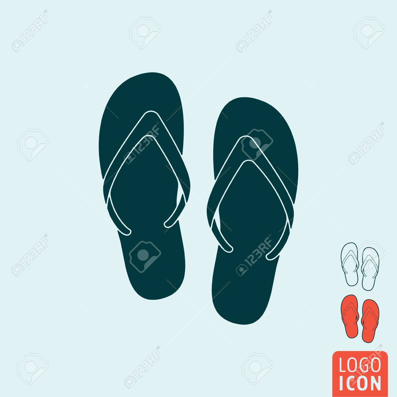 90b472eb0 Beach slippers icon. Beach slippers symbol. Flip-flop icon isolated. Vector  illustration