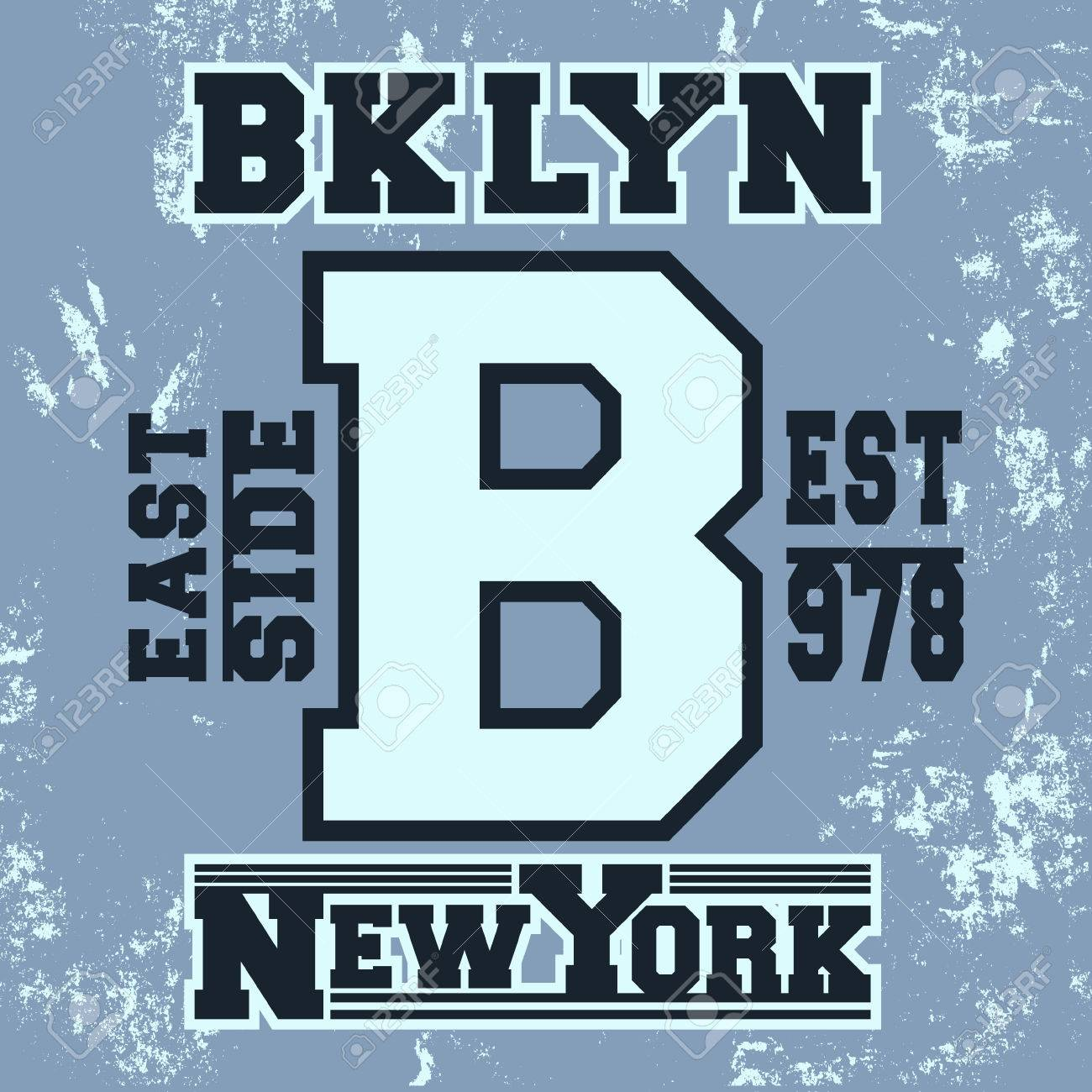 7dd7ef8d T-shirt print design. Brooklyn New York vintage stamp. Printing and badge  applique