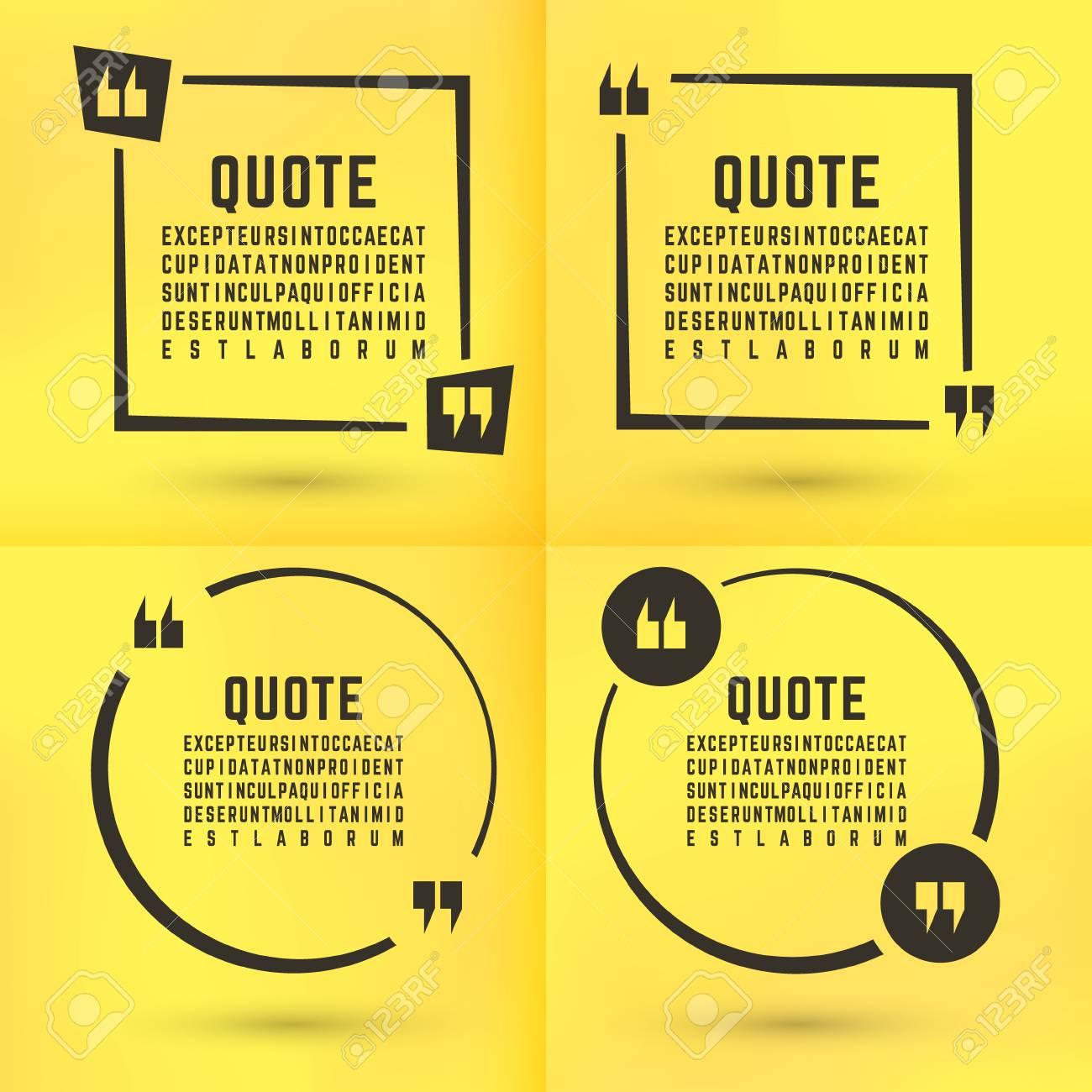 quotes template set quote bubble set quotes square quote form