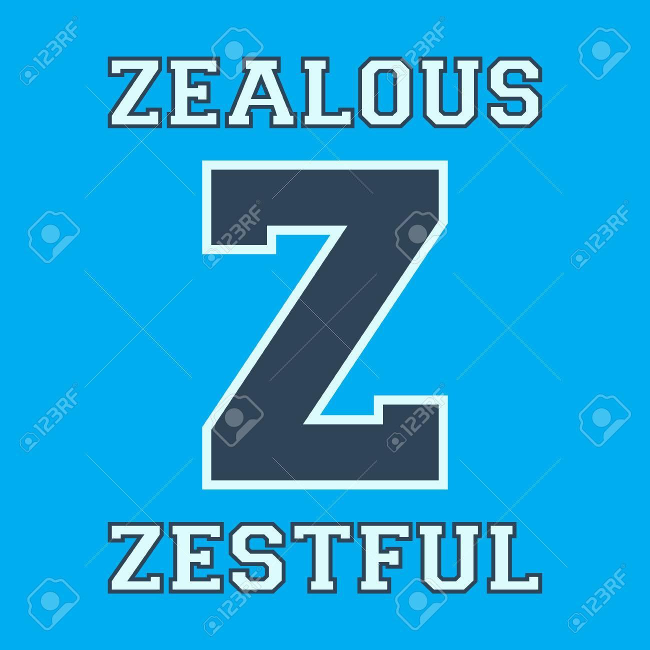 Plantilla Alfabeto Fuente. Letra Z. Diseño De La Camiseta De ...