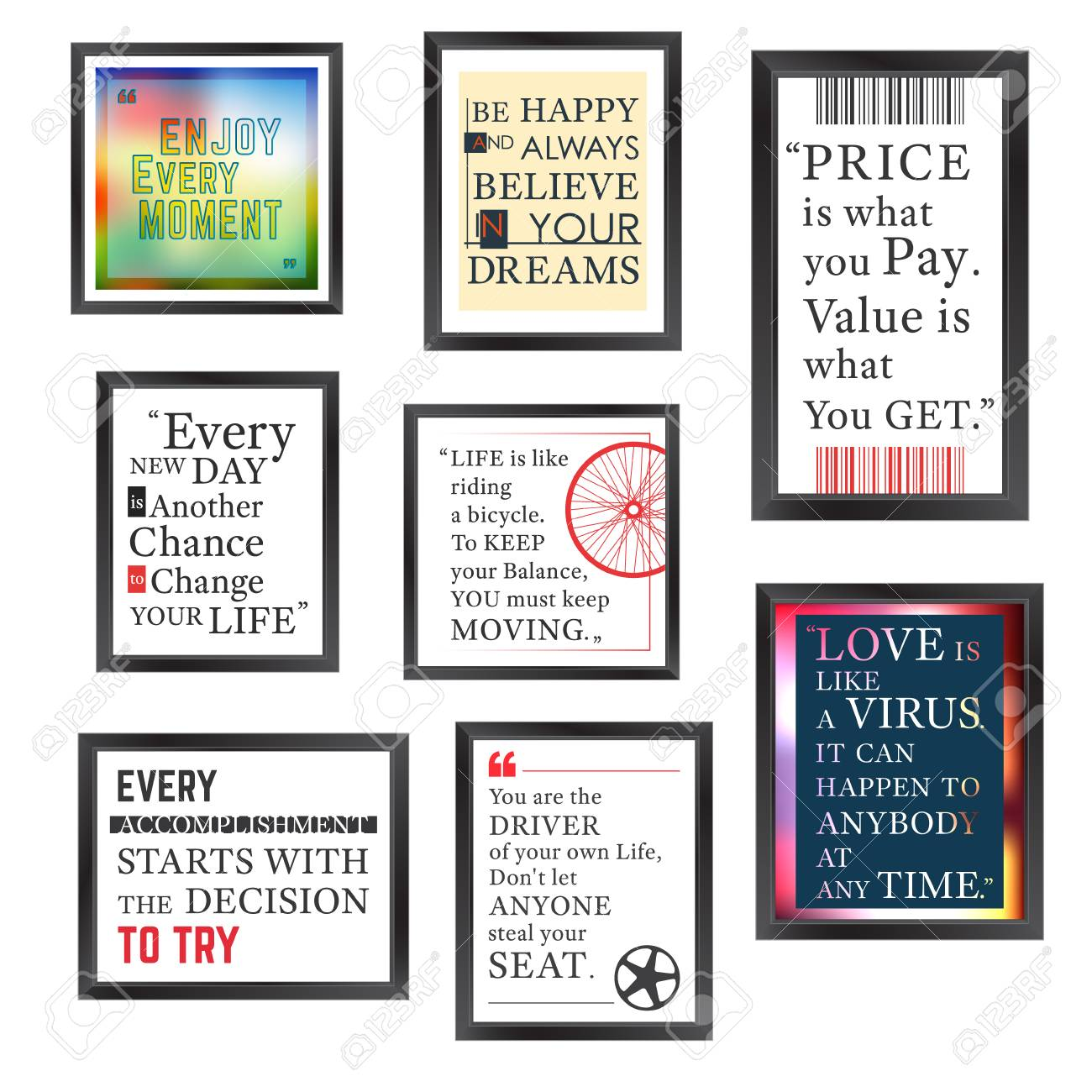 Quotes Motivation Frame Designed. Quote Motivational Square Template ...
