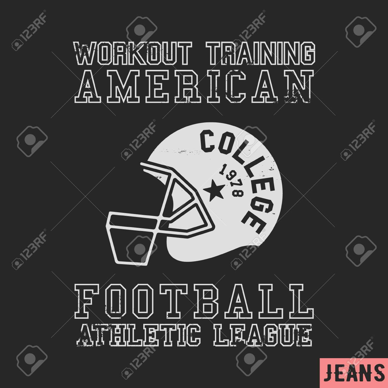 T-shirt print design. American football vintage stamp. Printing and badge  applique label 2add5f0a9