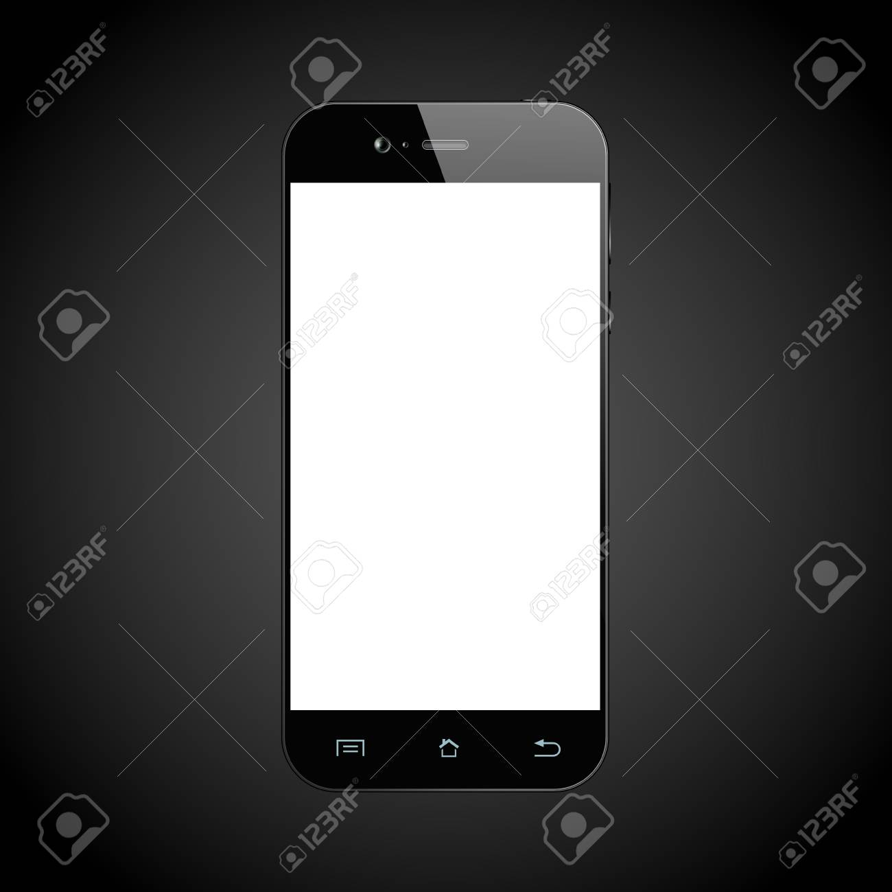 black smartphone cellphone template mobile phone with blank