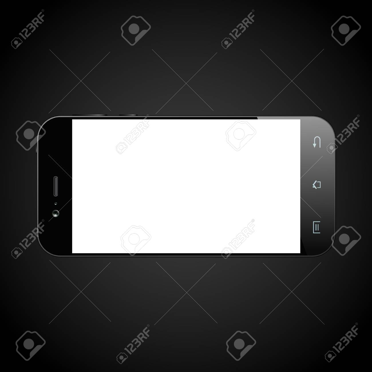black smartphone with blank screen cellphone template mobile