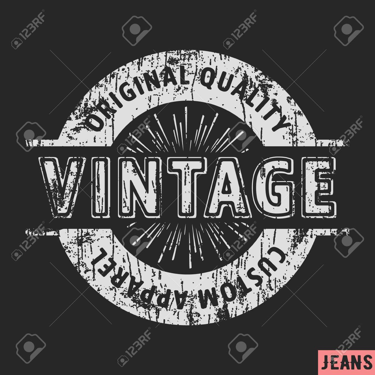 2fbdfeac0 T-shirt print design. Custom apparel vintage stamp. Printing and badge  applique label