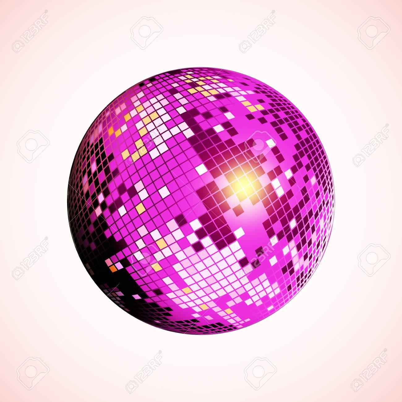 disco bal pictogram paarse disco spiegel bal geïsoleerd