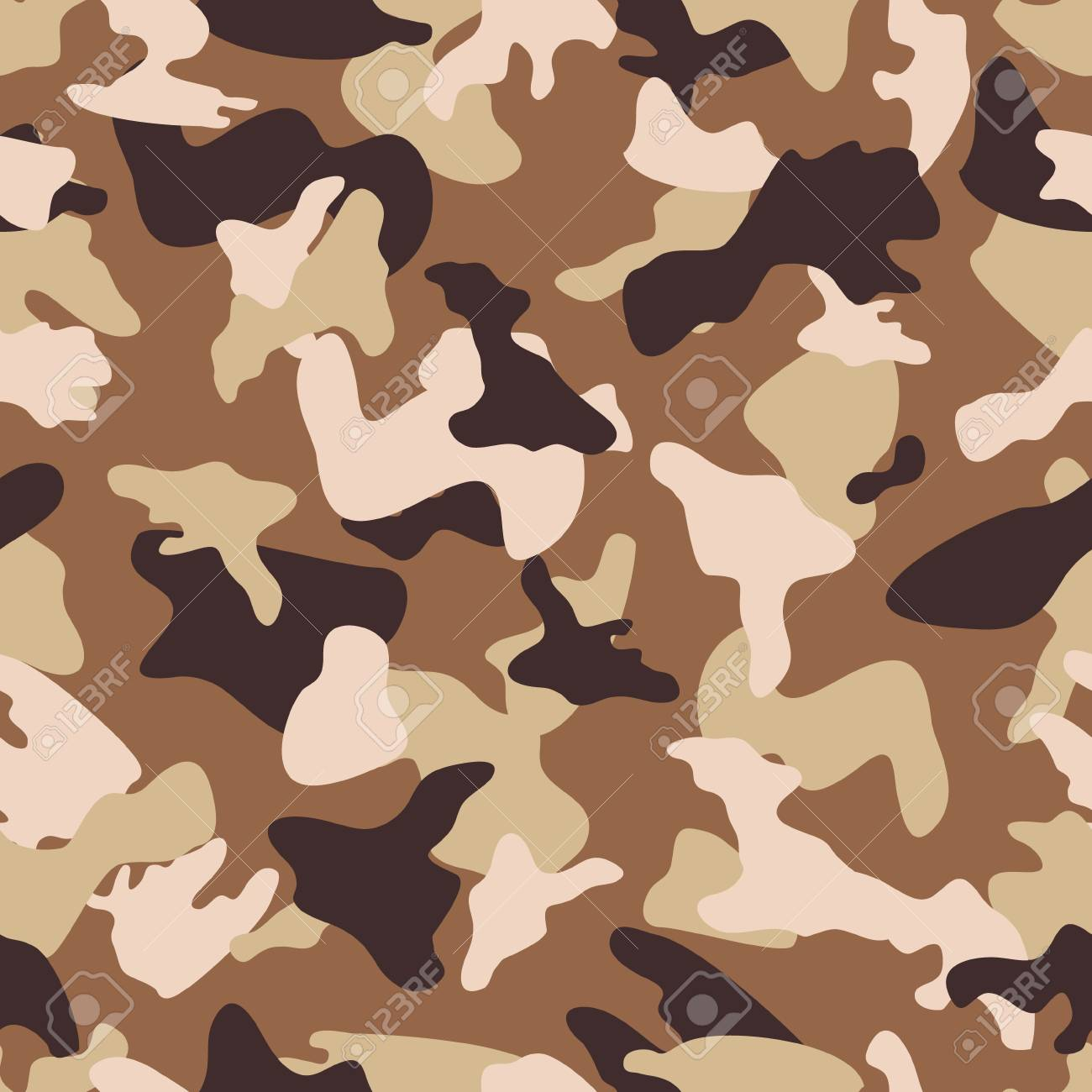 Camouflage Seamless Color Pattern Stock Vector
