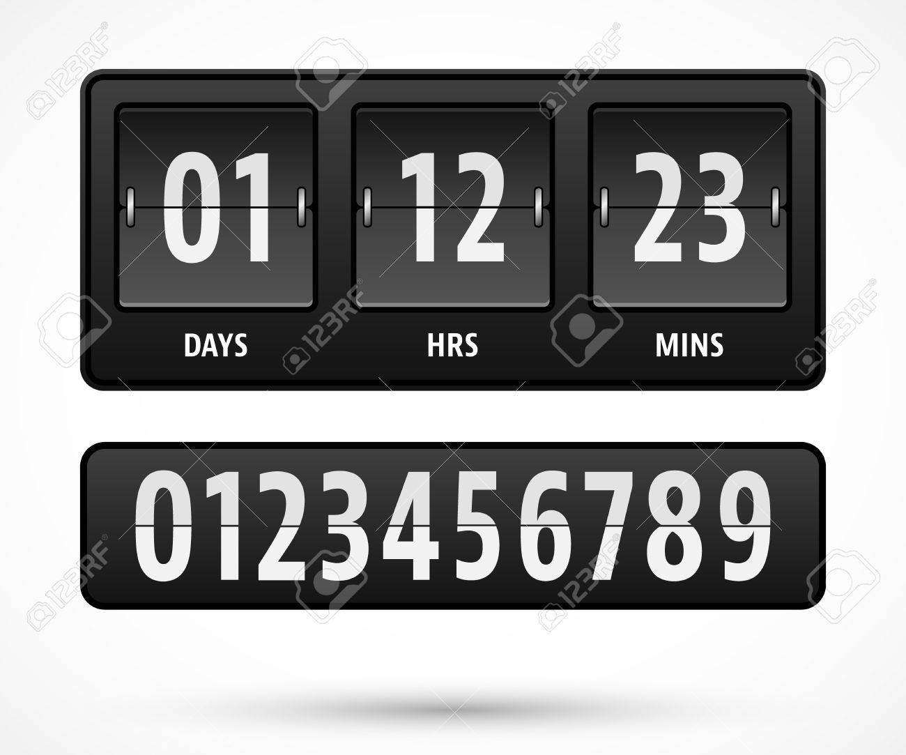 Mechanical Countdown Timer Template With Days, Hours And Minutes ...