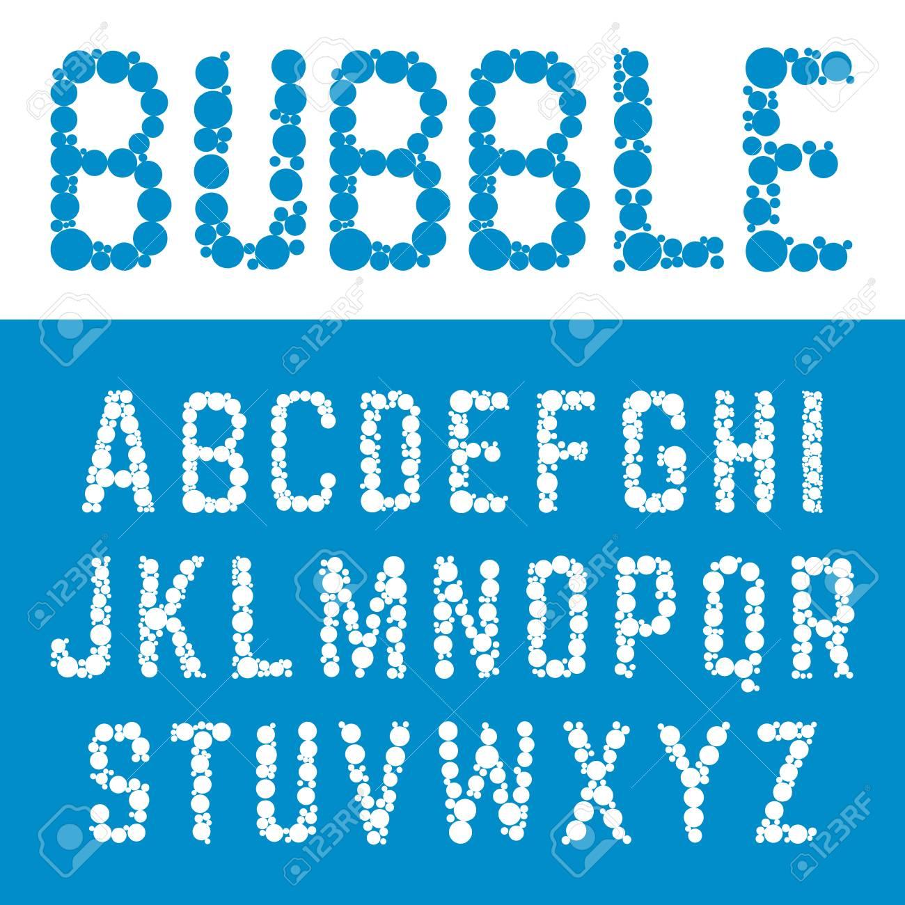 Alphabet Bubble Font Template Letters Bubbles Design Vector