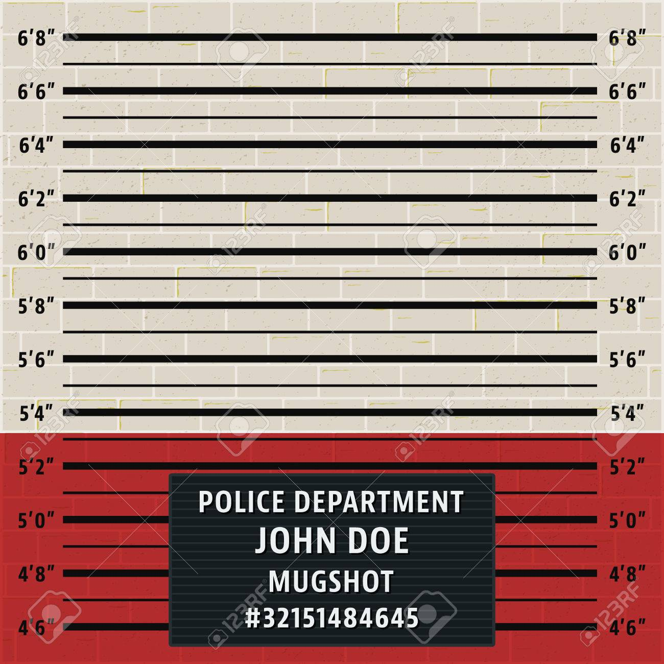 Police Mugshot Template Royalty Free Cliparts, Vectors, And Stock ...