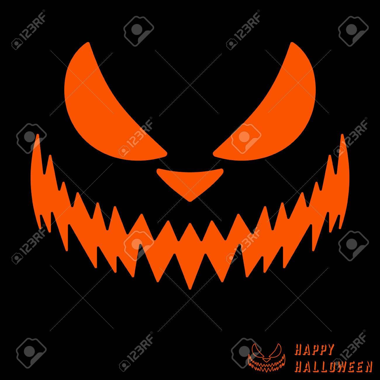 Halloween Furchtsame Kurbis Vorlage Lizenzfrei Nutzbare
