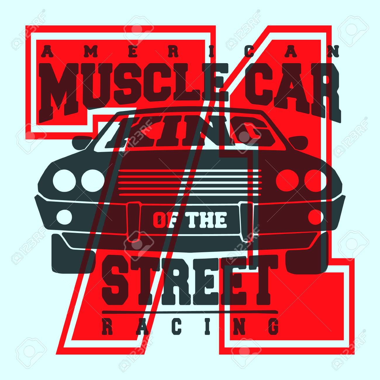 18548d1a T-shirt print design. American muscle car vintage t shirt stamp. Printing  and