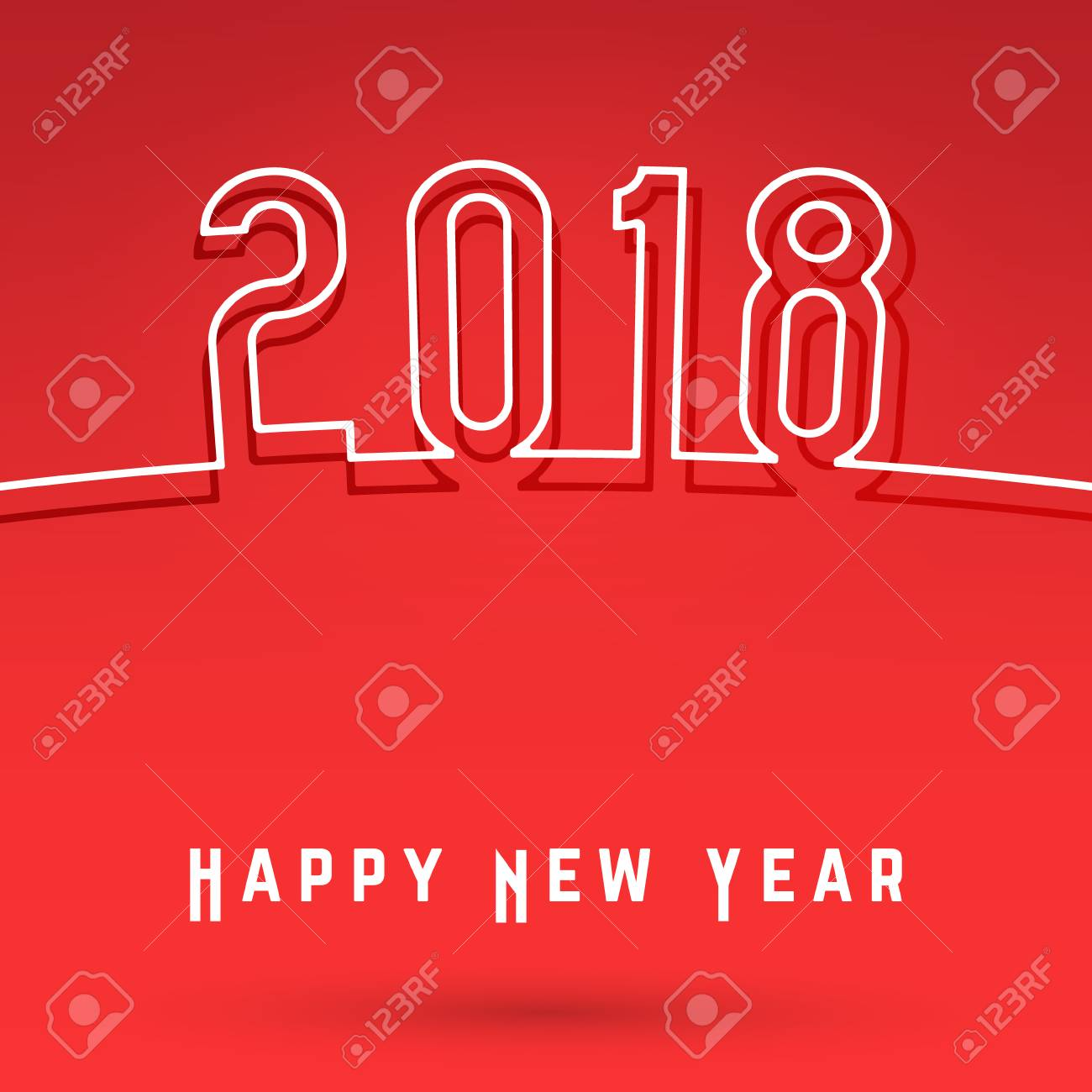 2018 happy new year cover template minimal design covers for magazine printing products