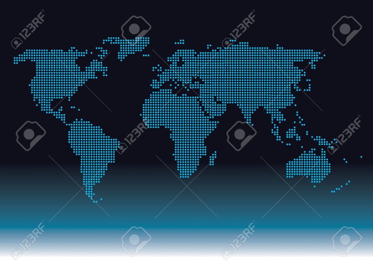 Diagram world worldwide digital graphic Stock Vector - 17831034