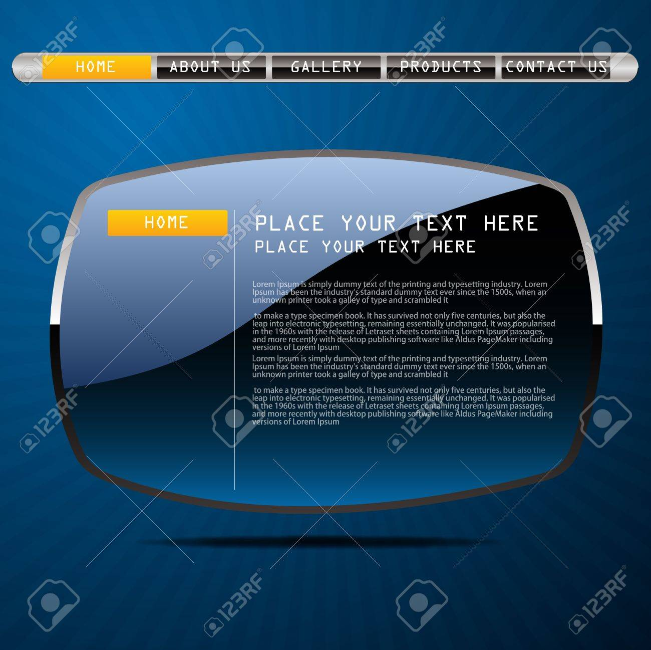 Website template Creative Media design Vector Stock Vector - 17831036