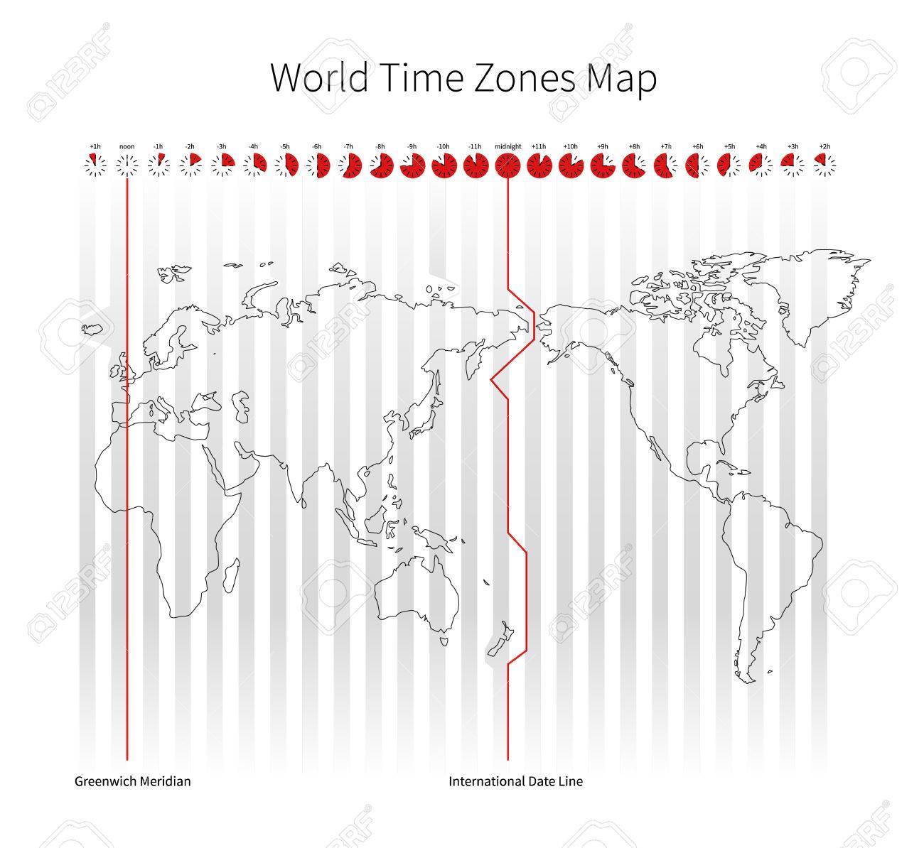 World time zones map isolated on white royalty free cliparts world time zones map isolated on white stock vector 43704653 gumiabroncs Image collections